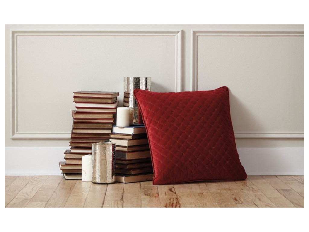 Trendz PillowsPiercetown Red Pillow