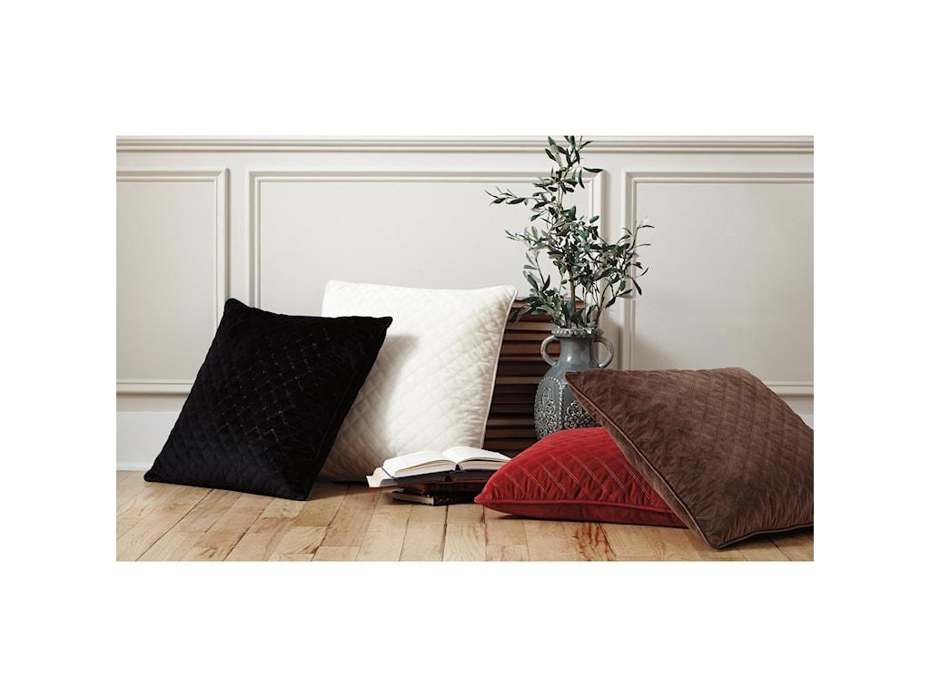 Trendz PillowsPiercetown Red Pillow