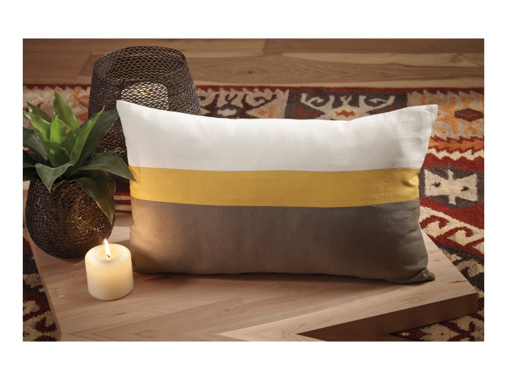 Ashley (Signature Design) PillowsJacop Gray/Yellow/White Pillow