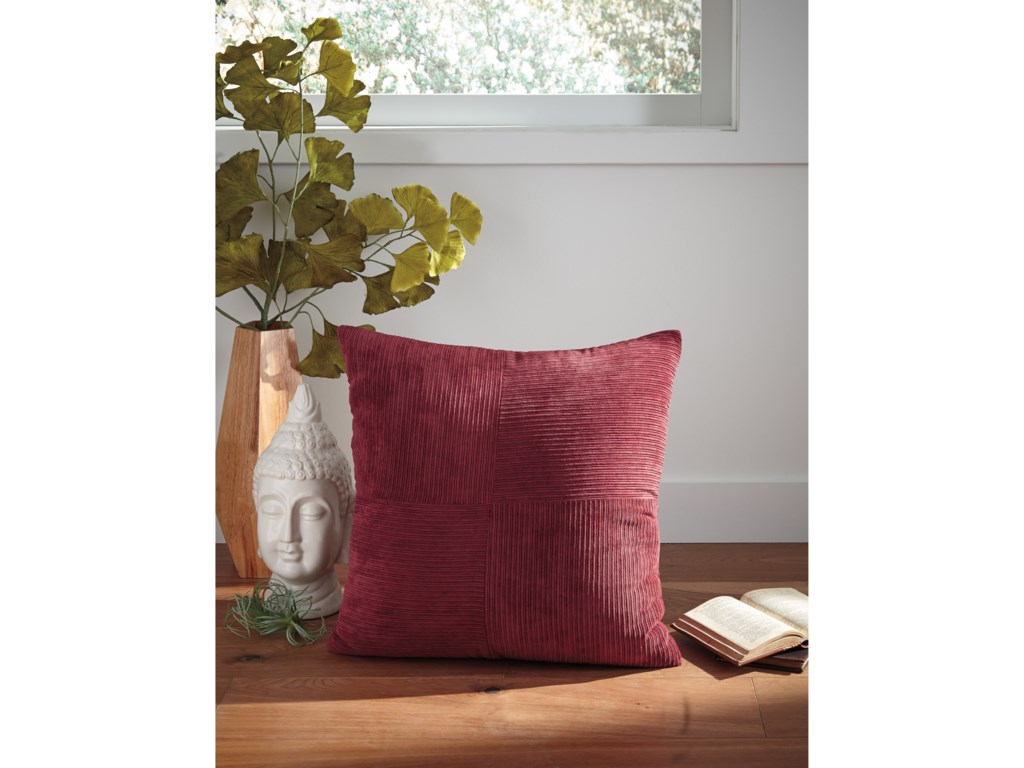 Ashley Signature Design PillowsJinelle Brick Red Pillow