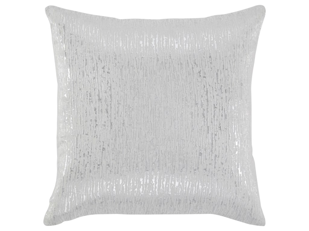 Pillows Tacey Off Whitesilver Pillow Rotmans Throw Pillows