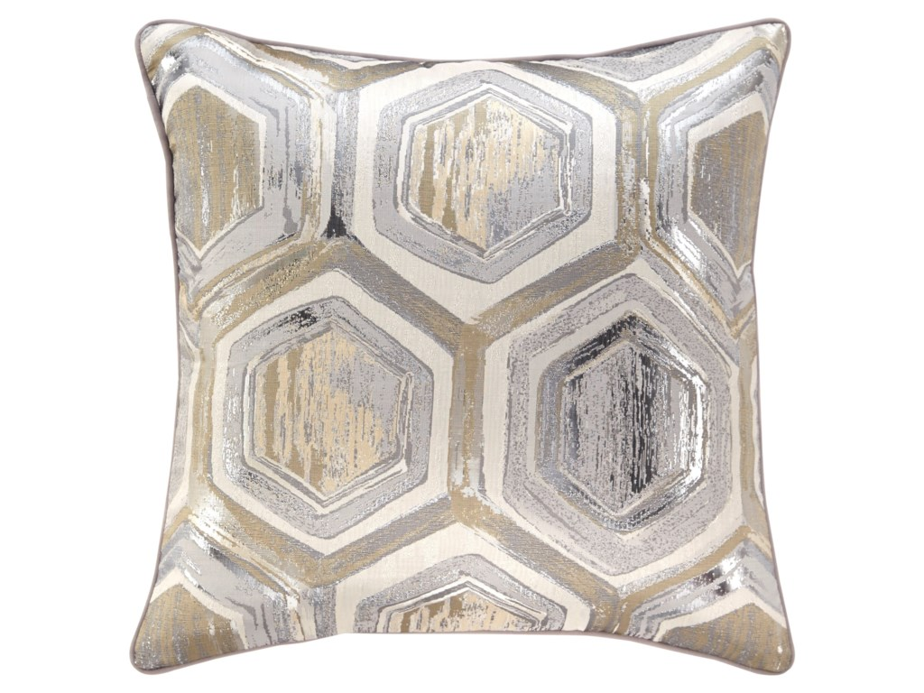 Signature Design by Ashley PillowsMeiling Metallic Pillow