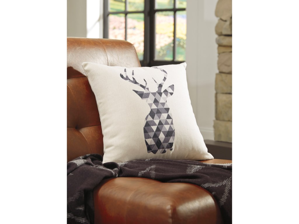 Signature Design by Ashley PillowsPrineville Natural/Charcoal Pillow