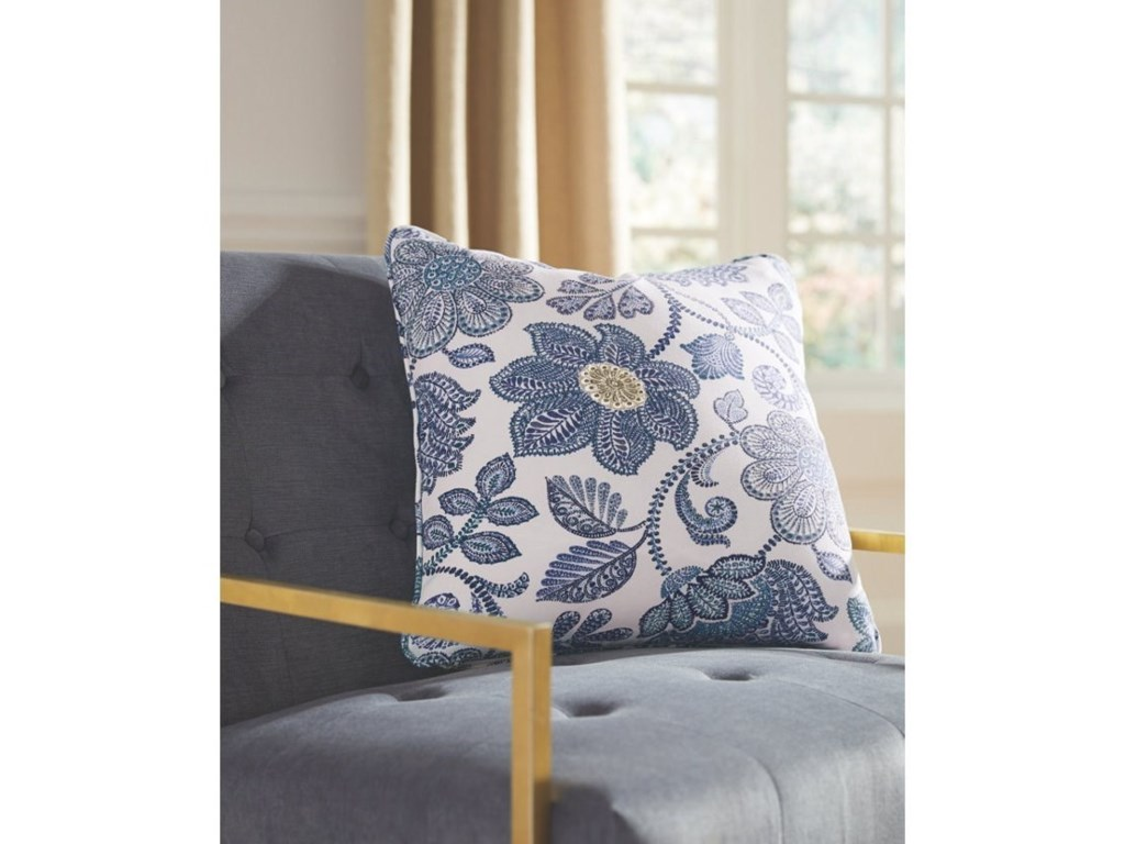 Signature Design by Ashley PillowsMiriam Blue/Cream Pillow