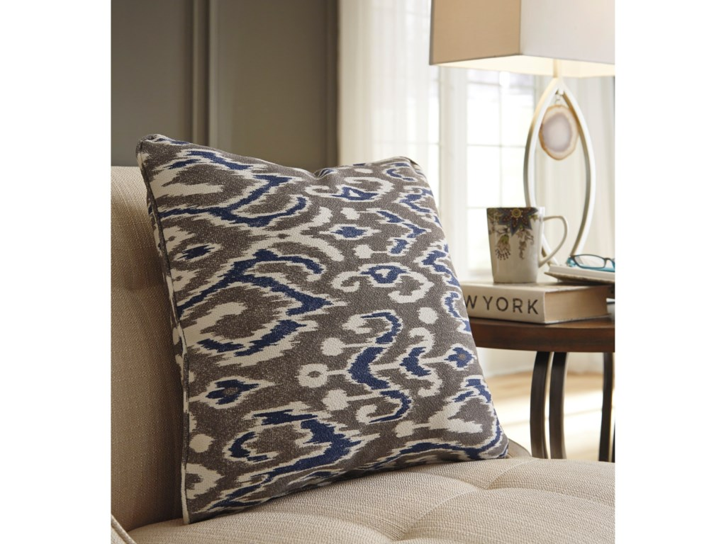 Signature Design by Ashley PillowsKenley Blue/Brown Pillow