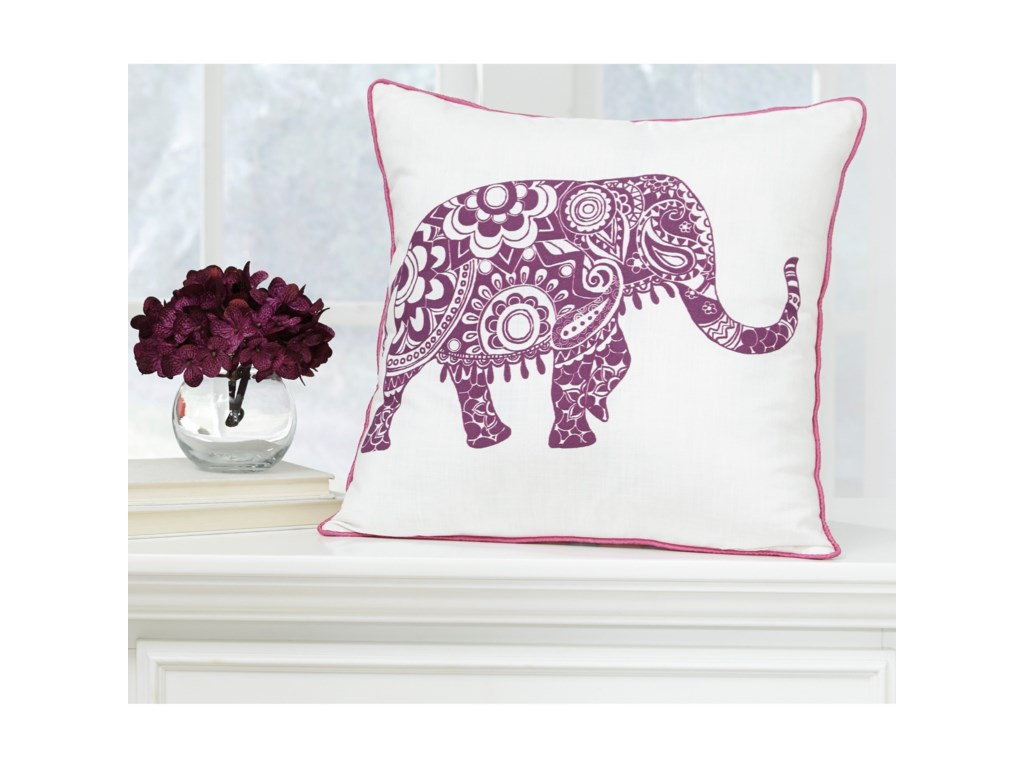 Signature Design by Ashley PillowsMedan White/Purple Pillow