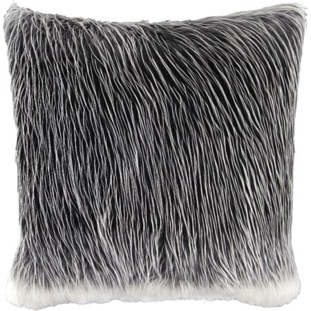 Thelma Black/White Faux Fur Pillow