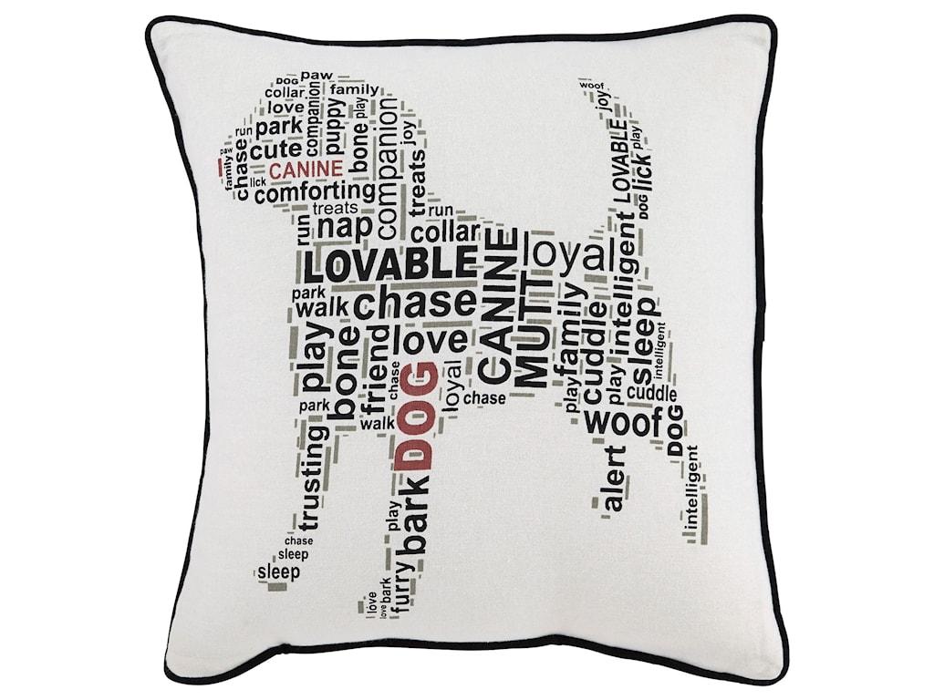 Signature Design by Ashley PillowsBeals White/Black Pillow