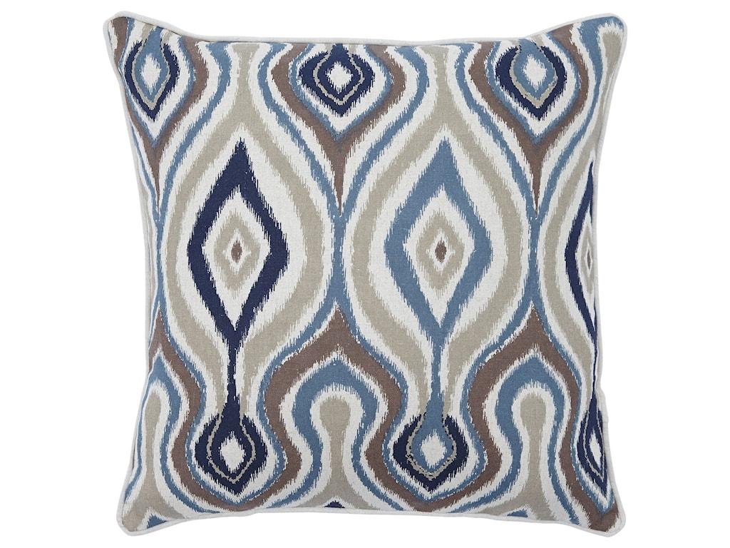 Ashley (Signature Design) PillowsRussell Brown/Blue Pillow