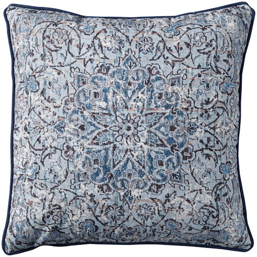 Signature Design by Ashley Pillows Mariah Blue Pillow