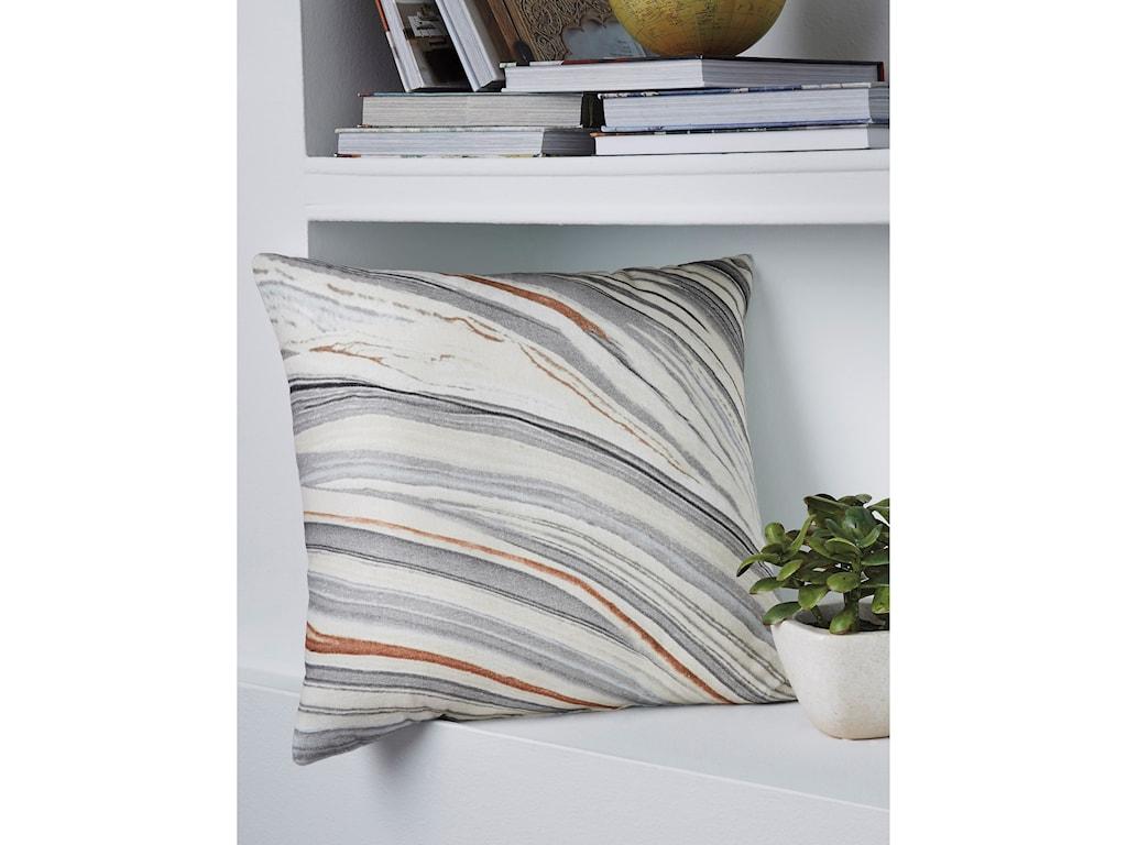 Signature Design by Ashley PillowsMiquel Gray/Cream Pillow