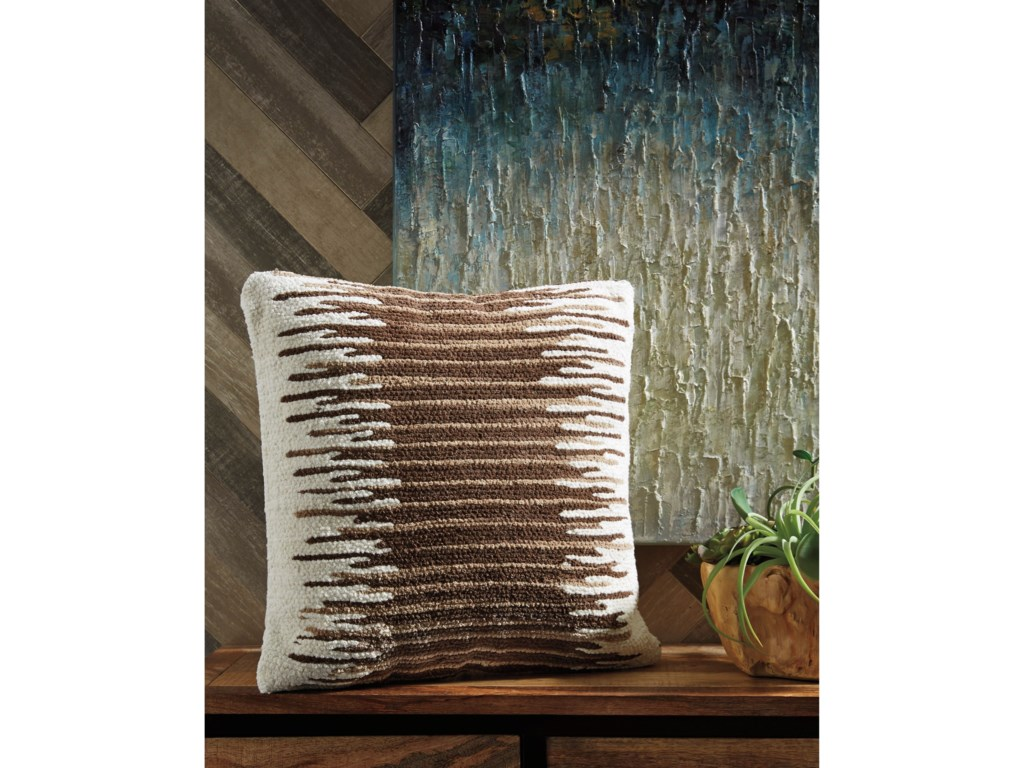 Signature Design by Ashley PillowsWycombe Cream/Brown Pillow
