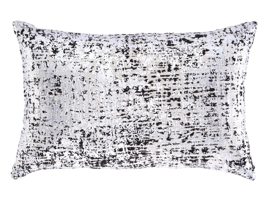 Signature Design By Ashley Pillowslinda Black Silver Pillow
