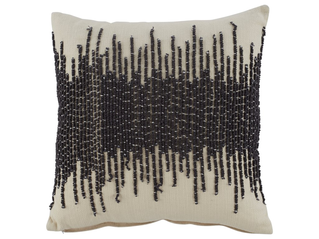 Signature Design by Ashley PillowsWarneka Charcoal/Cream Pillow
