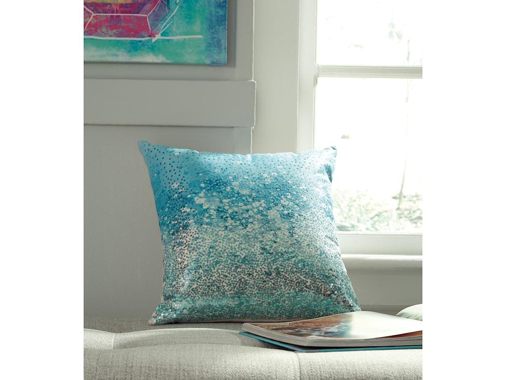 Signature Design by Ashley PillowsMeilani Blue Pillow