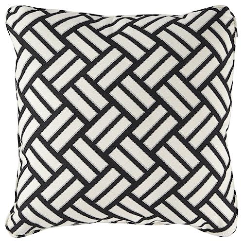 Signature Design by Ashley Pillows Ayres Black/White Pillow