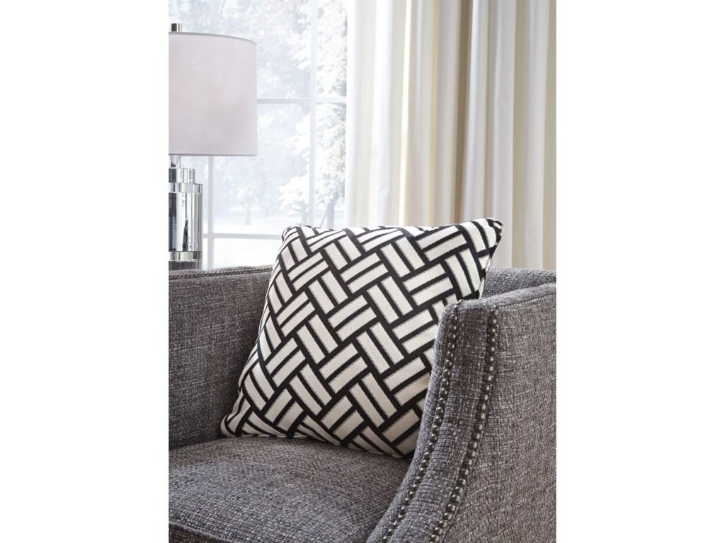 Signature Design by Ashley PillowsAyres Black/White Pillow