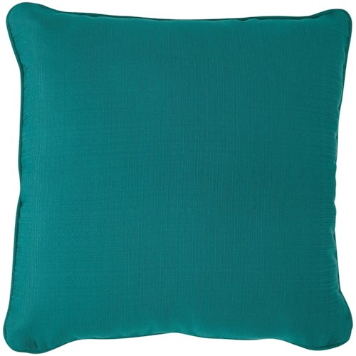 Signature Design by Ashley Pillows Jerold Turquoise Pillow
