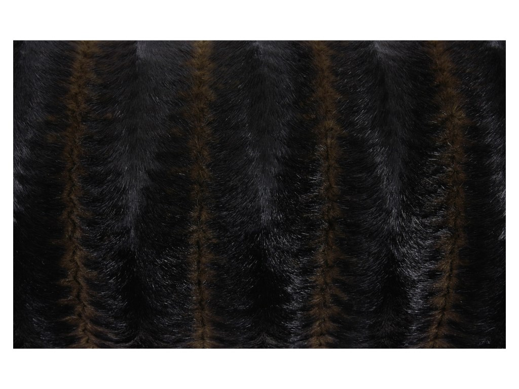 Signature Design by Ashley PillowsElvena Brown/Black Faux Fur Pillow