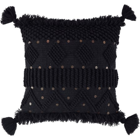 Mordechai Black Pillow