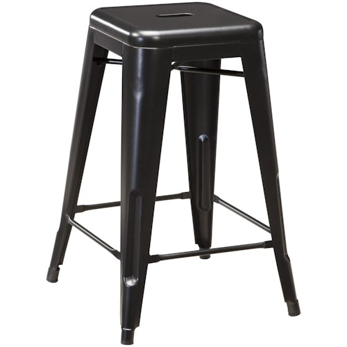 Signature Design by Ashley Pinnadel Retro Contemporary Metal Stool