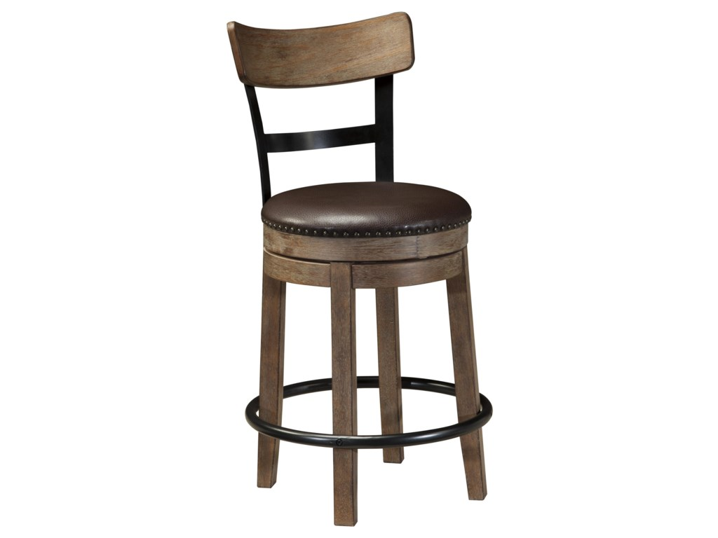 Signature Design by Ashley PinnadelUpholstered Swivel Barstool
