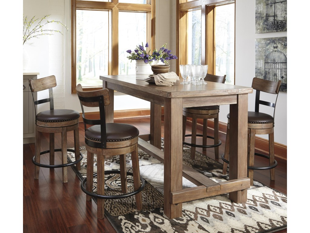 Signature Design By Ashley Pinnadel5 Piece Counter Table Set