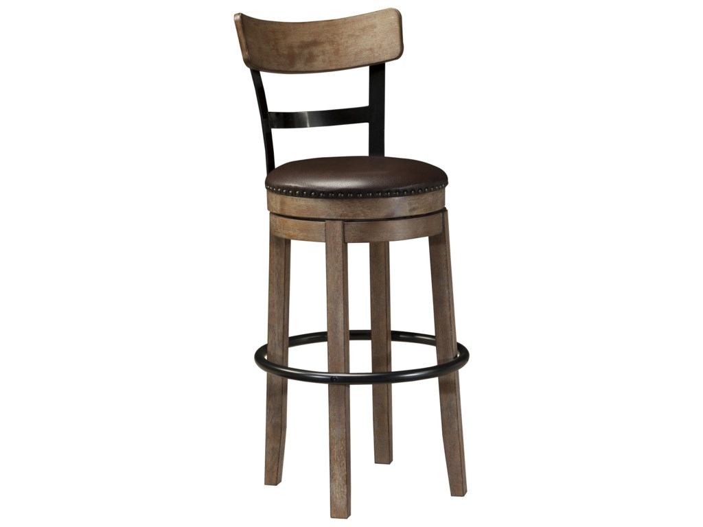 Signature Design by Ashley PrydeTall Upholstered Swivel Barstool