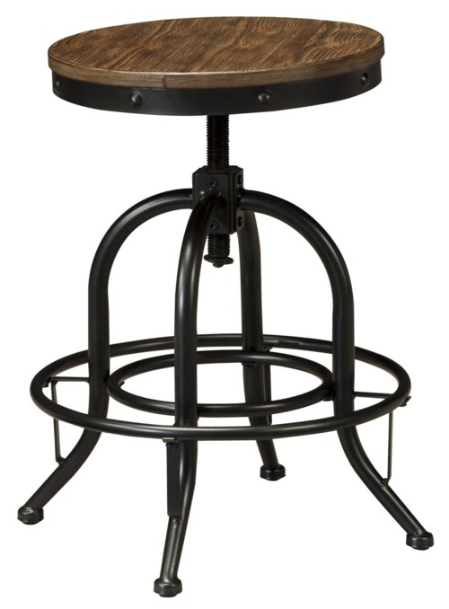 Ashley Signature Design Pinnadel Swivel Stool With Metal