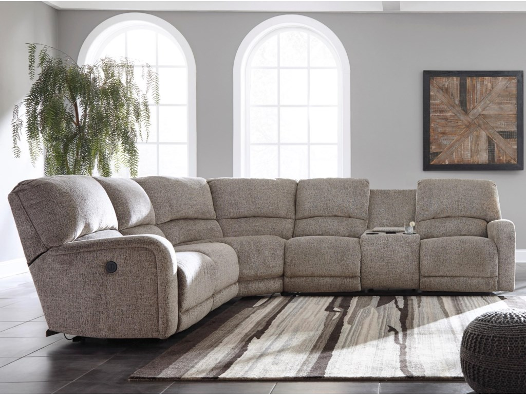 Signature Design by Ashley PittsfieldPower Reclining Sectional with Console