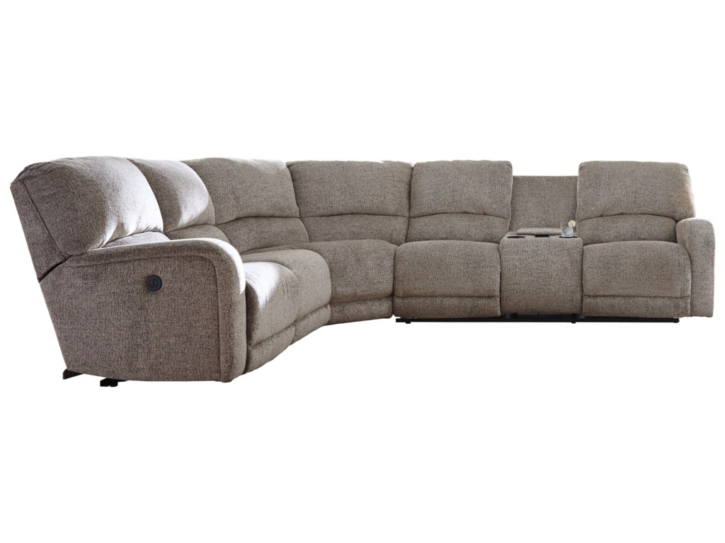 Ashley (Signature Design) PittsfieldPower Reclining Sectional with Console