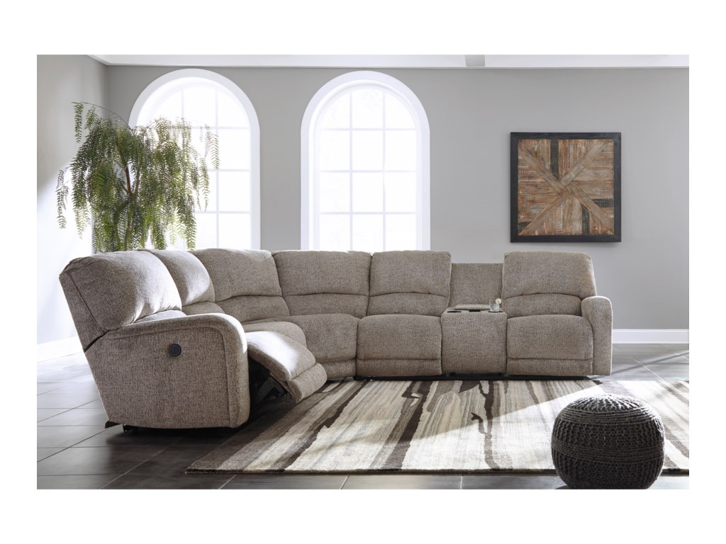Trendz PresleighPower Reclining Sectional with Console