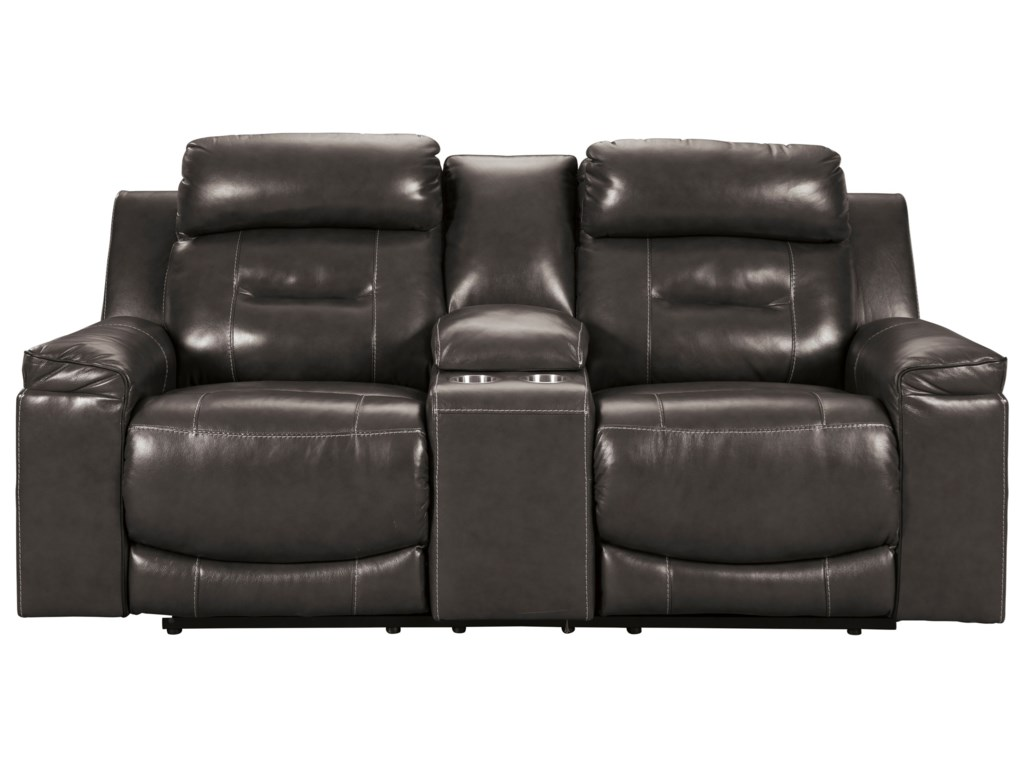 Signature Design by Ashley OthelloPower Recl Loveseat w/ Cnsl & Adj Headrests
