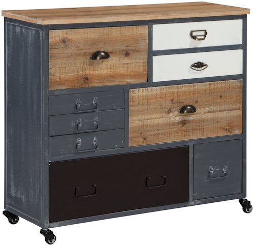 Signature Design by Ashley Ponder Ridge Relaxed Vintage Accent Cabinet