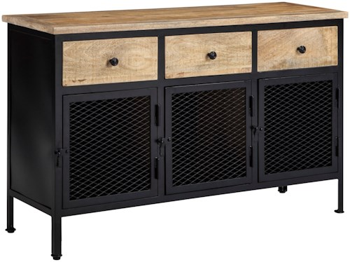 Signature Design by Ashley Ponder Ridge Industrial Wood/Metal Accent Cabinet
