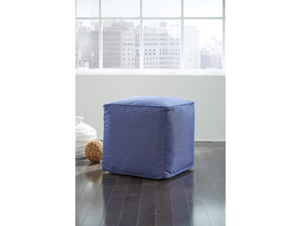 Signature Design by Ashley PoufsCatalina Blue Pouf