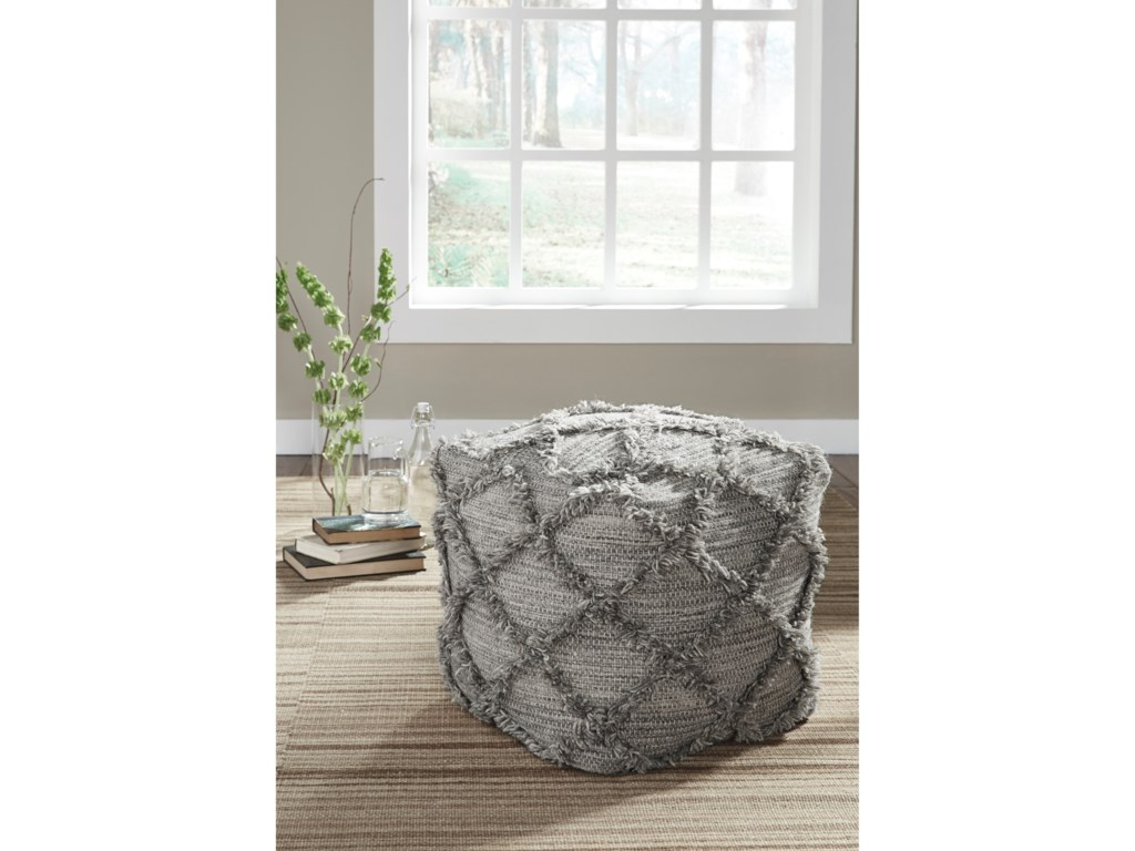 Signature Design by Ashley PoufsAdelphie - Natural/Gray Pouf
