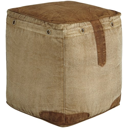 Signature Design by Ashley Poufs Cinnamon Natural Pouf