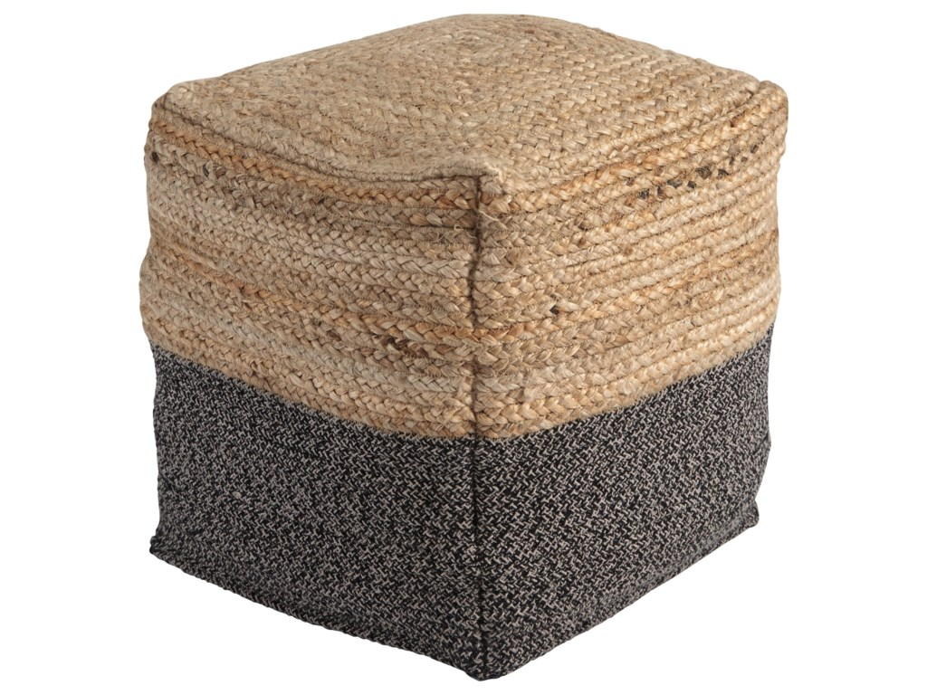 Signature Design by Ashley PoufsSweed Valley - Natural/Black Pouf
