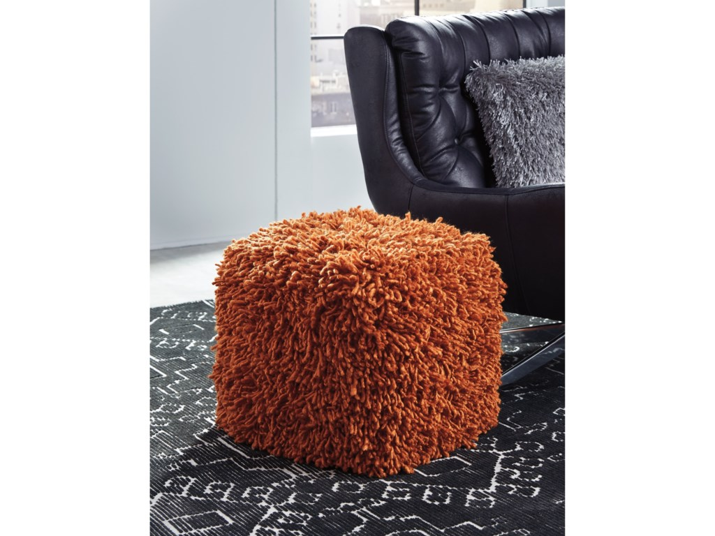 Signature Design by Ashley PoufsAmelia Orange Pouf