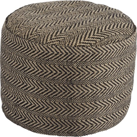 Chevron - Natural Pouf