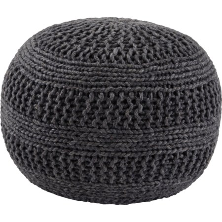 Benedict - Charcoal Pouf