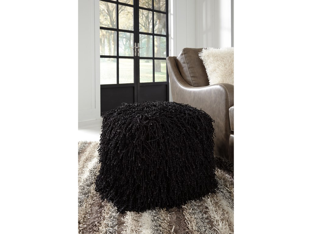 Signature Design by Ashley PoufsCairo Black Pouf