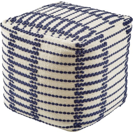 Lanka Blue/White Pouf
