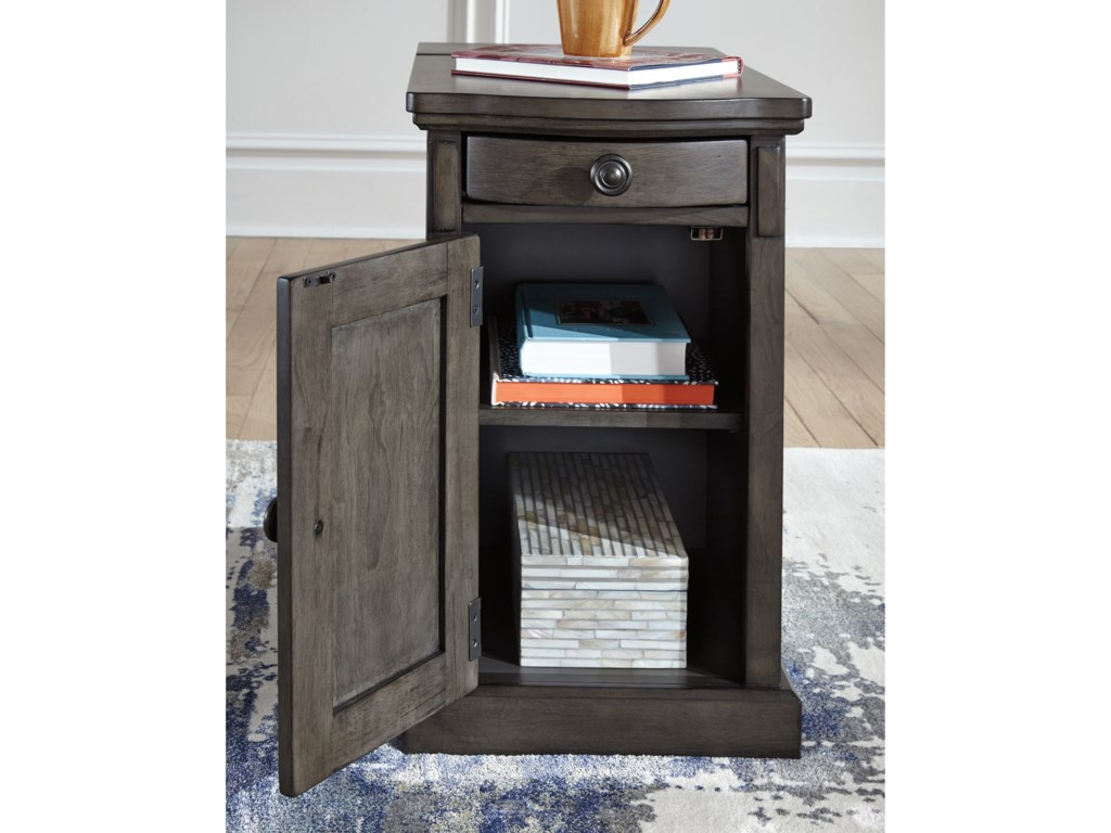 Signature Design by Ashley Recliner FriendGrey Chair Side End Table