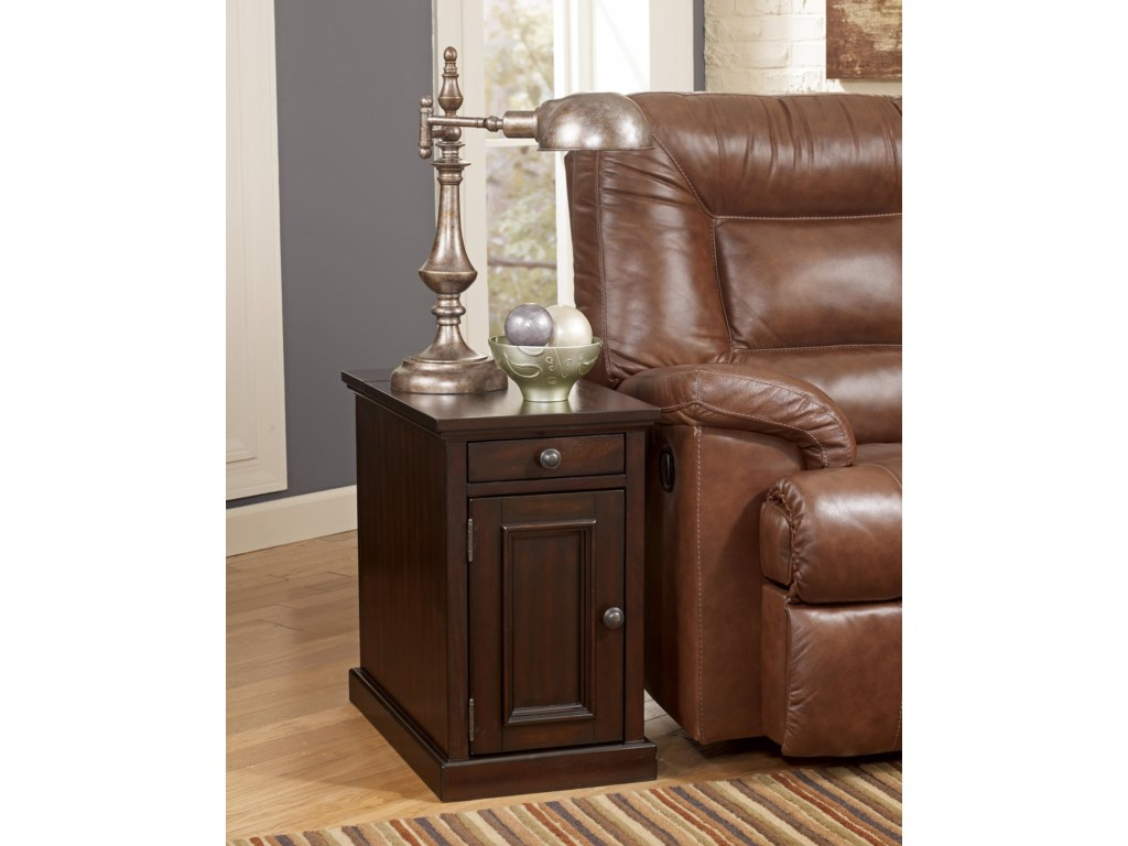 Signature Design by Ashley Recliner FriendMartini Suite Chair Side End Table