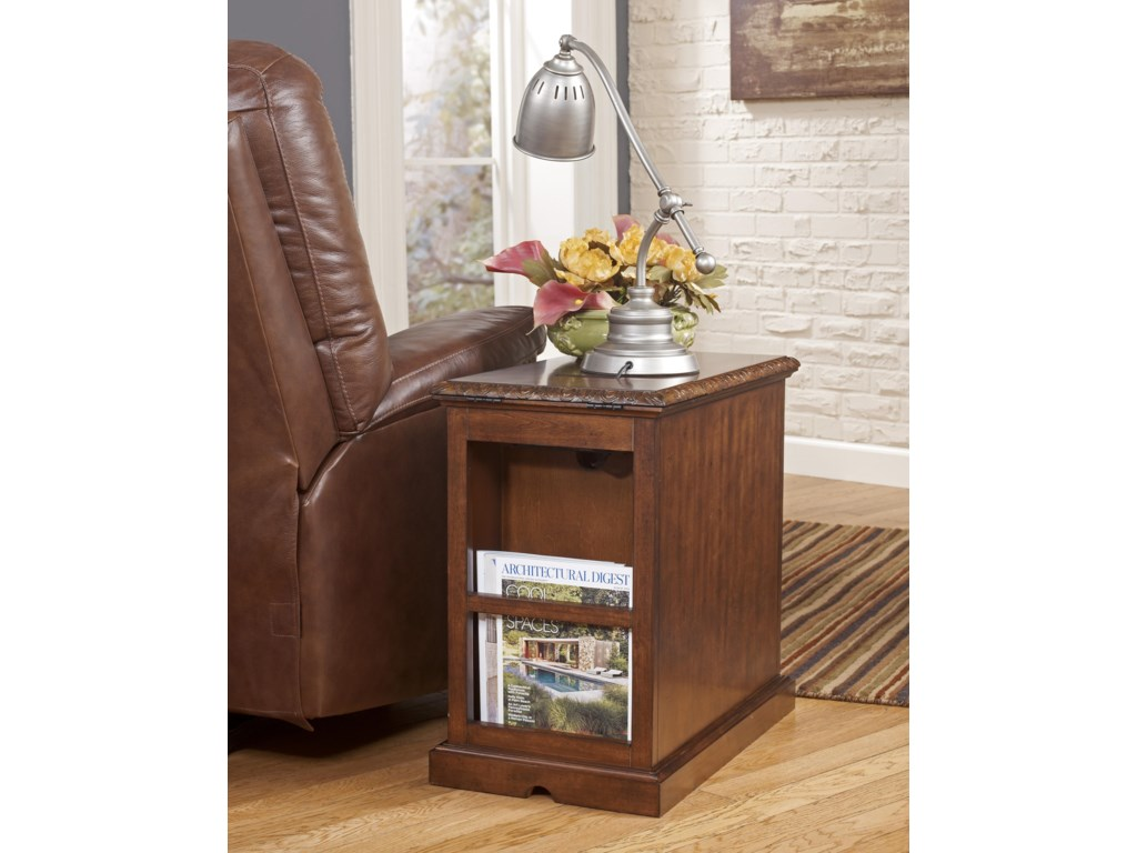 Signature Design by Ashley Recliner FriendNorth Shore Chair Side End Table