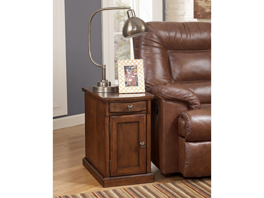 Signature Design by Ashley Recliner FriendBurksville Chairside End Table