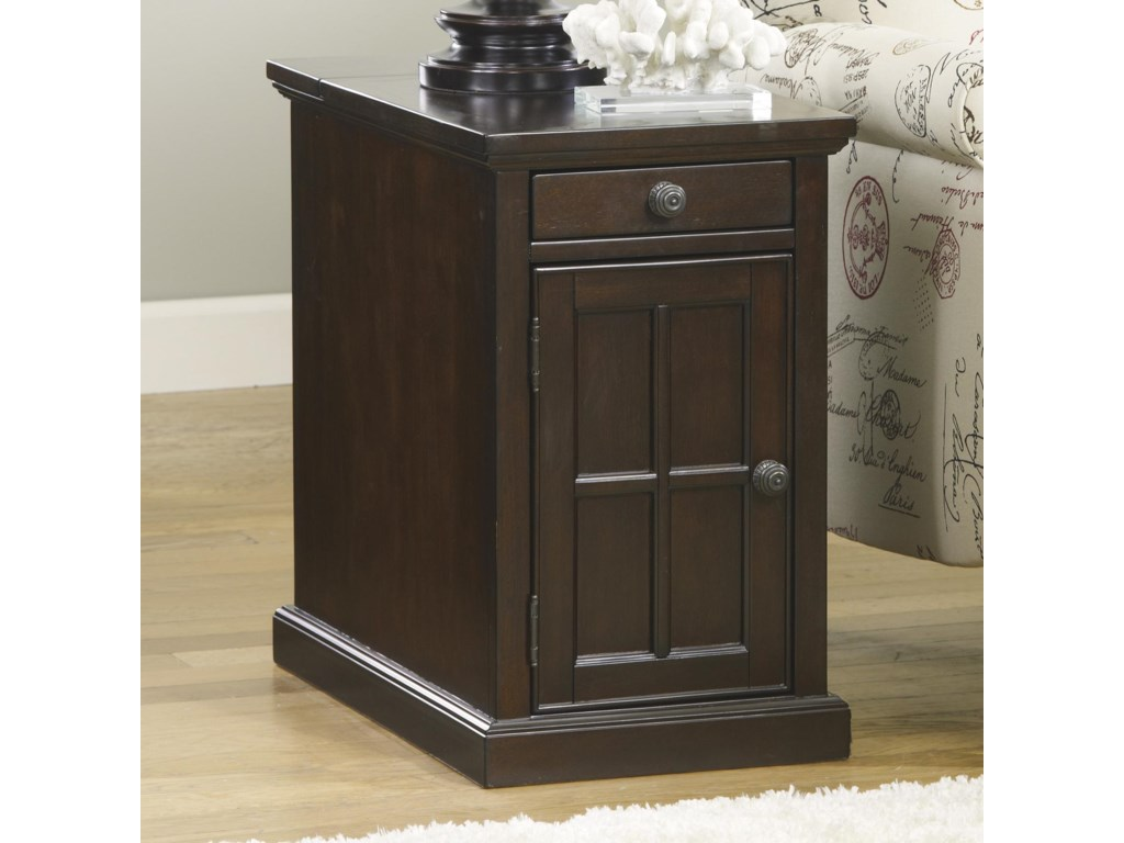 Signature Design By Ashley Laflorn T127 668 Chair Side End Table With Power Outlets Pull Out Shelf Sam Levitz Furniture End Tables