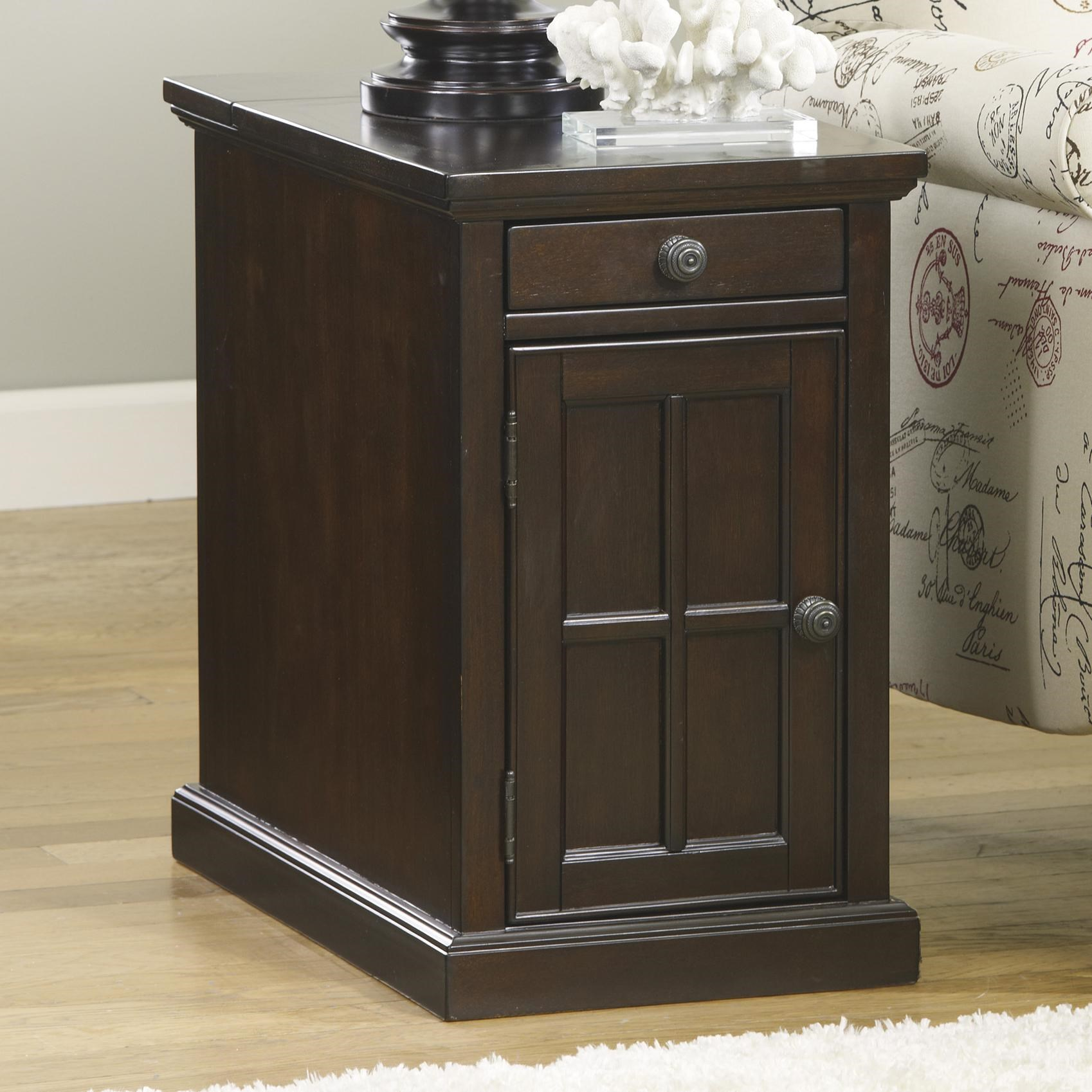 Laflorn Chair Side End Table With Power Outlets U0026 Pull Out Shelf   Belfort  Furniture   End Tables